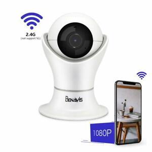 Wifi 1080p Camera, AES Encryption Full HD Pet Cam Baby Cam Wireless Security Cam