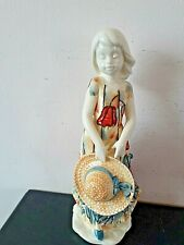 More details for old tupton ware tube lined girl with straw hat