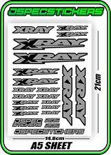 XRAY RC A5 STICKER SHEET NT1 T4 XB9 RX8 ELECTRIC NITRO DECALS R/C HUDY GREY B