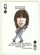 CHRISSIE HYNDE THE PRETENDERS R&R HALL OF FAME SINGLE SWAP PLAYING CARD