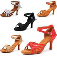 Ballroom heeled Salsa tango latin dance shoes children girls women  size 34-42