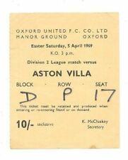 Away Teams A-B Aston Villa Written - on Football Programmes