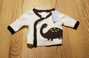 Gymboree Baby Boys Long Sleeve Shirt Up to 7 lbs. Infants Buttons Dinosaur CUTE