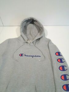Champion Women's Sweatshirt Size 2XL Gray Hoodie Top w/ Front Pouch Pocket XXL