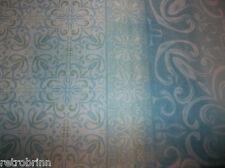 "Deco Bain Fabric Shower Curtain 72""x72"" Aqua & White Damask Spa Jade Merced"
