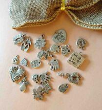 15 mixte made with love smile pour un ange fait main charms vintage ton argent