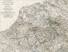Alte Landkarte DEUTSCHLAND Hannover Westfalen Lippe Niederlande Belgien 1875