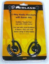 AVP1 MIDLAND Radio Earbud Microphones, 2 Headsets for Walkie Talkie