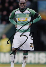 YEOVIL: JEAN-PAUL KALALA SIGNED 6x4 ACTION PHOTO+COA