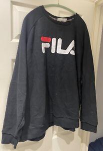 FILA BLACK LOGO 5XL SWEATSHIRT JUMPER BIG AND TALL