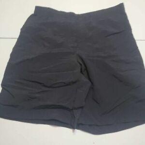 Lands' End Womens Bermuda Walking Shorts Black Pockets Side Slit Lined 12