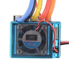 120A ESC Sensored  Brushless Speed Controller For 1/8 1/10 Car/Truck Crawler US