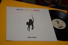 GINO PAOLI LP MATTO COME UN GATTO - QUATTRO AMICI ORIG 1991 EX++ GATEFOLD