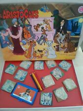 Vintage Walt Disney Aristocats  Wooden stamps Set with colouring pencils Milano