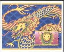 Isla Norfolk 2000 yo Dragon/saludos/FORTUNA/Zodiaco Lunar 1 V M/S (n18057a)