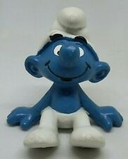 Smurfs 20026 Sitting Smurf PVC Figure 1978 Schleich Made in Portugal