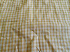"HOMESPUN 100% cotton dyed woven fabric gold white 3/8"" checks 2 yds x 44"" wide"