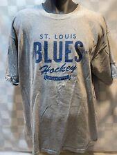 St Louis BLUES Hockey Bleed Blue Est 1967 T-Shirt Size XL