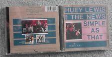 Huey Lewis & The News - Simple As That - Original UK 5 TRK CD Single