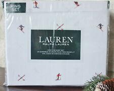 New Ralph Lauren ~ Snow Skiers King 4pc ~ White Sheet Set