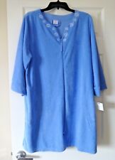 Croft and Barrow Women's Terry duster robe size XL blue