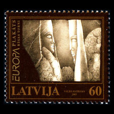 Latvia 2003 - EUROPA Stamps - Poster Art - Sc 571 MNH