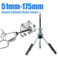 Car Engine Brake Cylinder Hone Stones Flexible Shaft 51mm To 177mm Honing Tensio