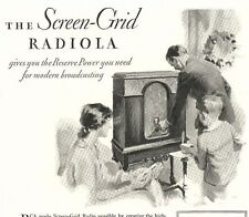 1929 Advertisement ~ RCA RADIOLA Screen-Grid Radiotron Cabinet Model
