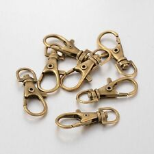 20pcs Antique Bronze Alloy Swivel Snap Hook Lobster Claw Clasps Keychain Crafts