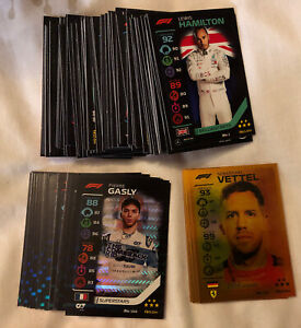 TOPPS TURBO ATTAX F1 FORMULA 1 2020 FULL SET OF ALL 181 CARDS