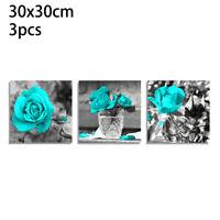 3pcs Modern Flower Canvas Painting Wall Art Home Decor Picture Print Decor Set