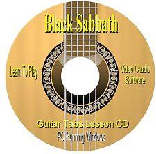 Black Sabbath ** Guitar Tab Lesson Software CD (67 SONGS)