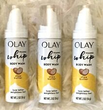 (Lot of 3) OLAY FOAMING Whip BODY WASH with Shea Butter, 2 OZ