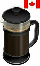 French Coffee Press (Black) - 34 oz Espresso and Tea Maker with Triple Filter...