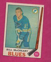 1969-70 OPC # 181 BLUES BILL MCCREARY NRMT+  CARD (INV#2469)