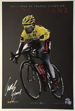 Cadel Evans Signed 2011 Tour de France Lithograph Photo cycling autograph Psa