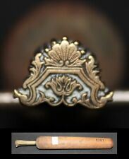 Superbe Fer à Dorer Modèle Derôme  Bronze relieur reliure #127