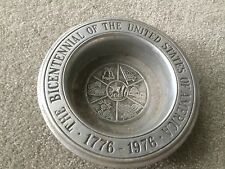 Vintage Bicentennial of the United States Ash Tray from the 70's! Collectible!