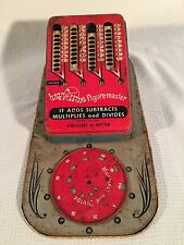 Vtg '40s Wolverine Happi Time Figure Master Tin Toy Add Subtract Multiply Divide