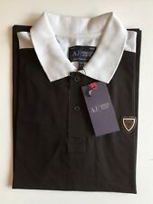 New Mens Armani Jeans Polo T-shirts Short Sleeve Black Size XXL RRR £115.00