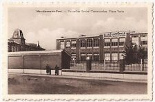 Belgium Marchienne-au-Pont:Nouvelles Ecoles Communales Place Verte Vtg Postcard