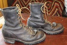 NICE VINTAGE DANNER LEATHER WORK LOGGER BOOTS 8 D