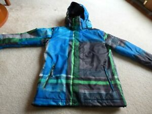 EUC QUIKSIVER BOYS YOUTH INSULATED SKI SNOWBOARDING UTILITY COLLECTION JACKET SZ