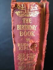 1899 THE BIRTHDAY BOOK Works of Rudyard KIPLING Antique RARE EDITION