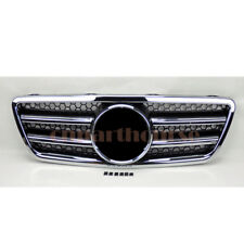 For Mercedes E Class W210 2000-2002 Front Black & Chrome Hood Sport Grill