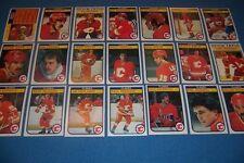 1982 83 OPC Calgary FLAMES Team Set of 21 Cards LANNY McDONALD Mel BRIDGMAN