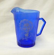 Vintage Cobalt Blue Shirley Temple Creamer Hazel Atlas