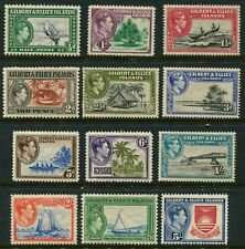 GILBERT & ELLICE ISLAND - 1939 Set to 5/- 'RED & BLUE' MLH SG43-54 Cv£45 [B4875]