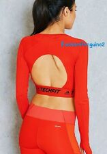 BRAND NEW!! Adidas Womens Training TechFit Crop Top B45097 RED sz XL, M, S