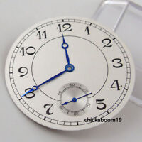 38.9MM White Watch Dial Black Arabic Numerals Fit For ETA 6498 ST3600 Movement